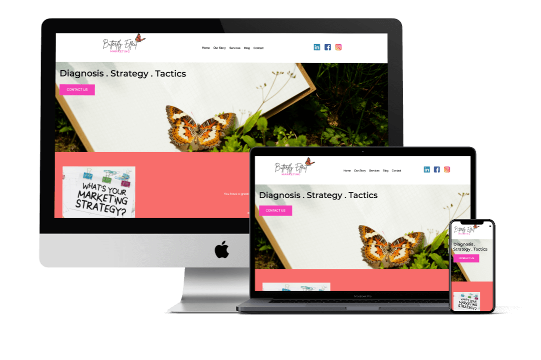 Butterfly Effect Marketing's Website Design
