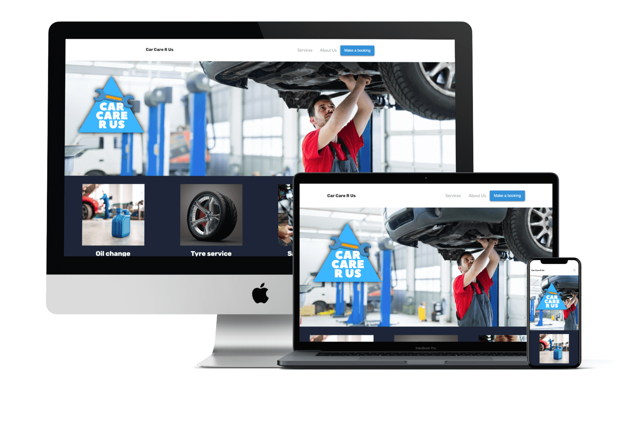 Car Care R Us Website Design