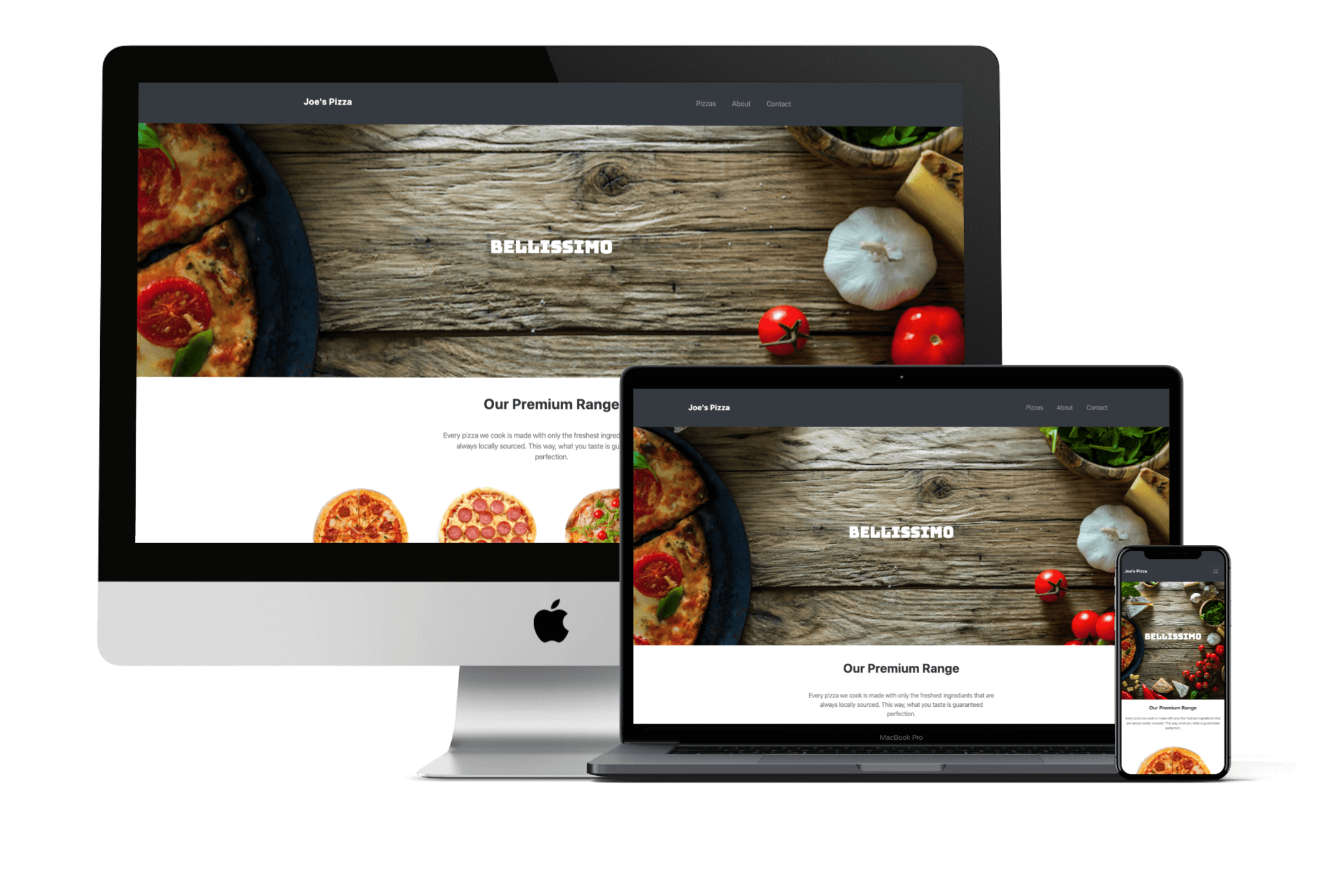 Joe's Pizza Website Design